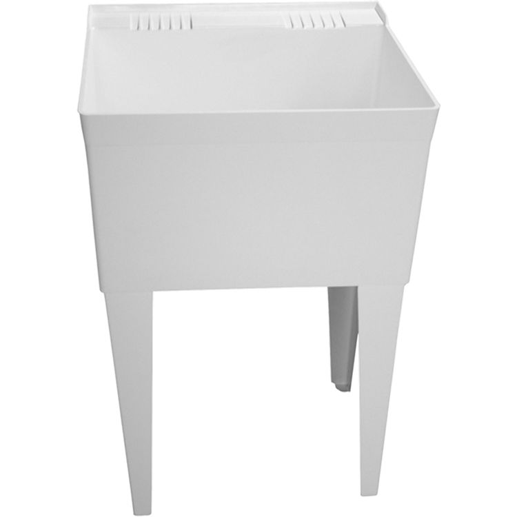 Laundry Tub Replacement Legs : Fiat FL1100 Molded Stone Laundry Tub with Legs PlumbersStock