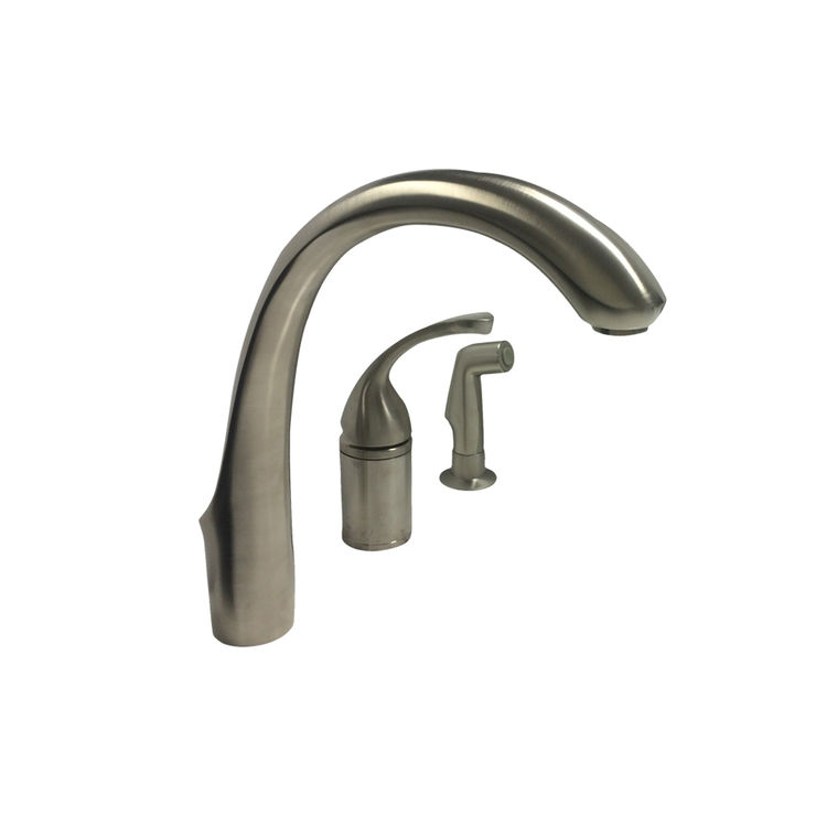 Kohler K-10430-BN Brushed Nickel Kitchen Faucet With Spray