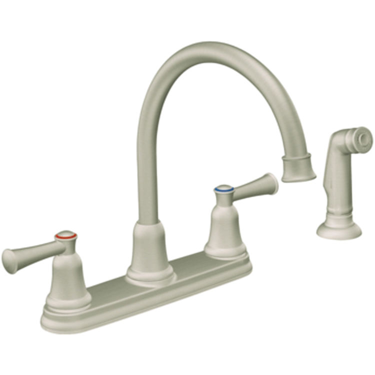 moen cfg ca41613sl capstone two handle kitchen faucet w