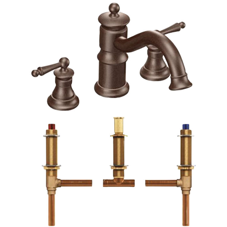 Moen Ts214orb Waterhill Roman Tub Faucet Trim In Oil