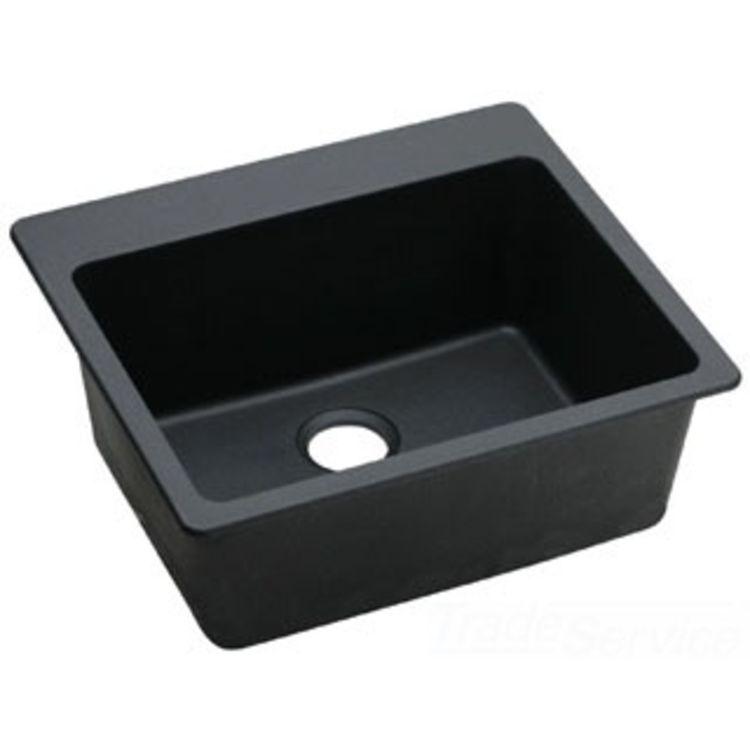 Granite Sink Manufacturers : ... ELG2522BK0 Black Single Bowl E-Granite Gourmet Sink PlumbersStock