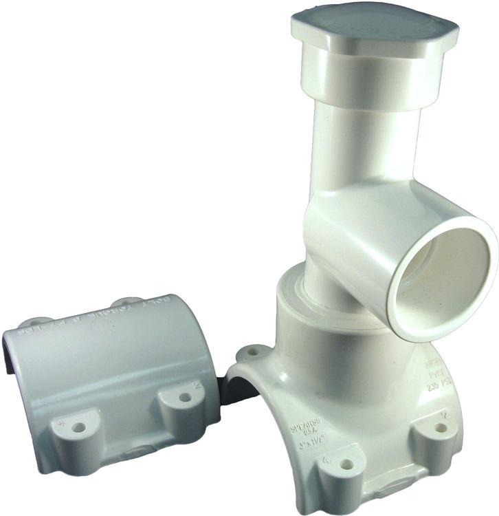 Pvc quot x hot tap saddle plumbersstock