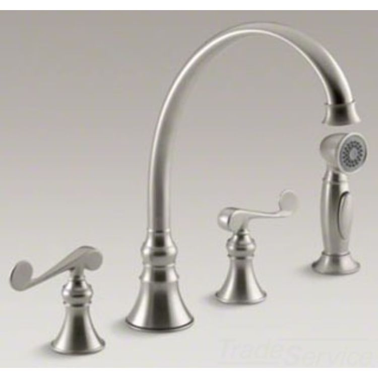 kohler k 16109 4 bn revival brushed nickel kitchen faucet kitchen faucet kohler revival bathroom faucet parts
